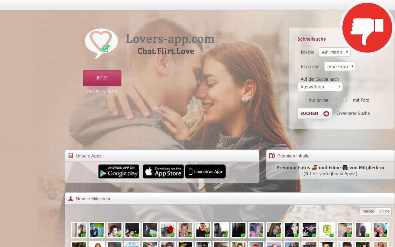 Lovers-App.com Erfahrungen Abzocke
