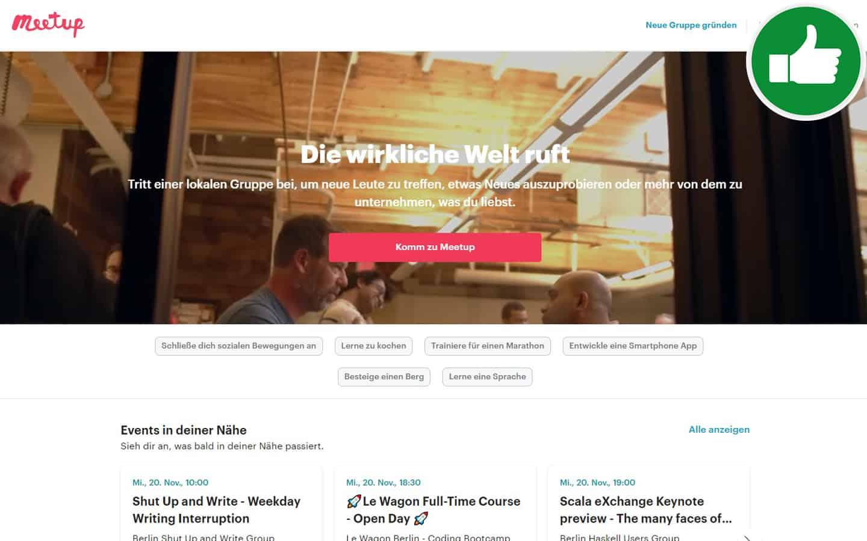 MeetUp.com Erfahrungen Abzocke