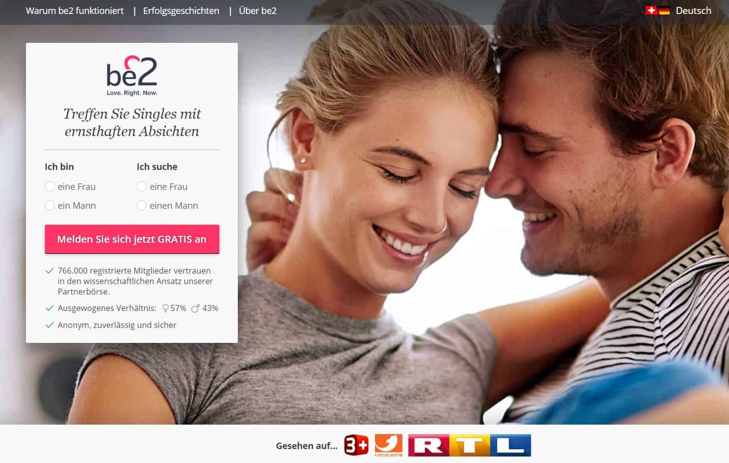 Testsieger: Be2 - Partnervermittlung