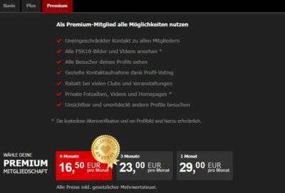 Joyclub.de - Kosten Premium