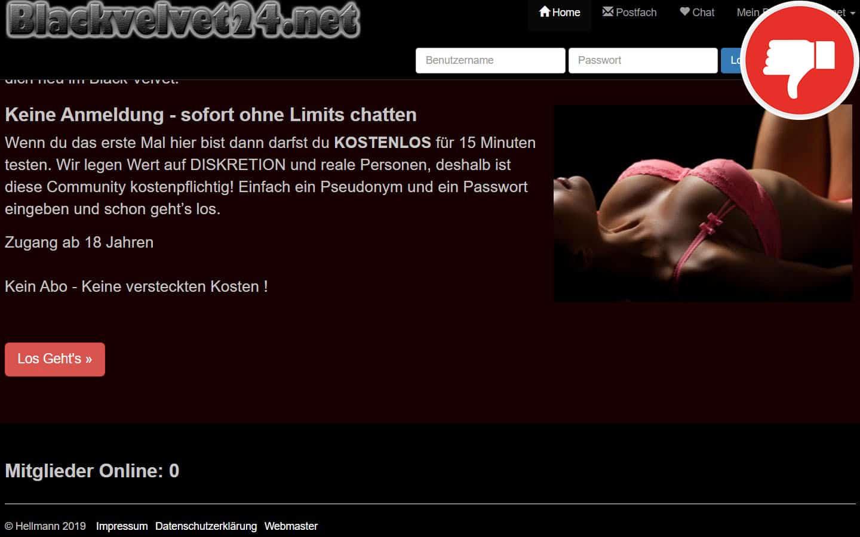 BlackVelvet24.net Erfahrungen Abzocke