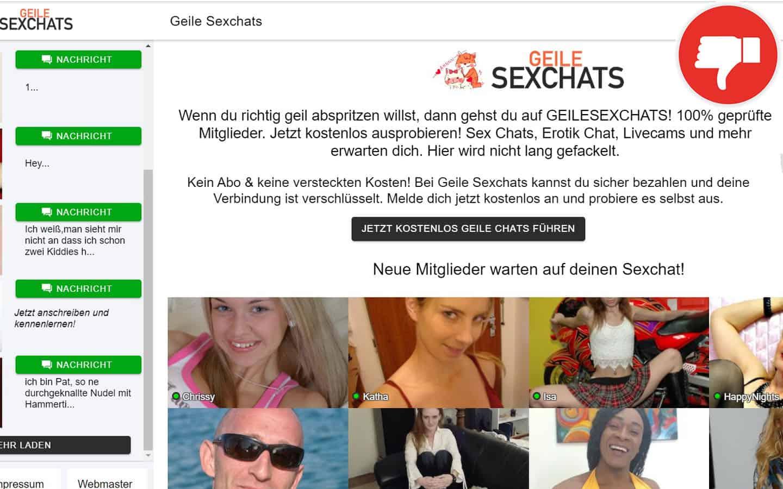 GeileSexChats.com Erfahrungen Abzocke