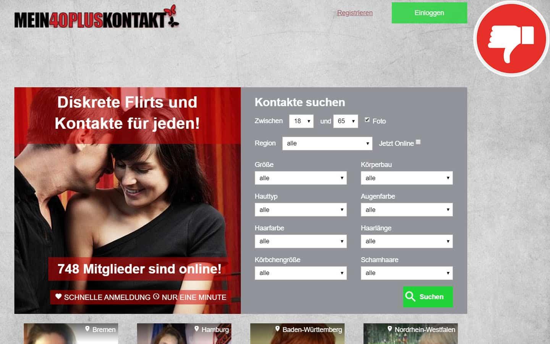 Mein40PlusKontakt.com Erfahrungen Abzocke
