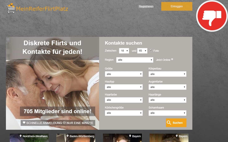 MeinReiferflirtPlatz.com Erfahrungen Abzocke