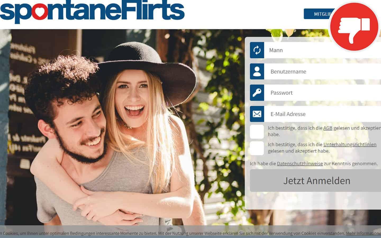 SpontaneFlirts.com Erfahrungen Abzocke