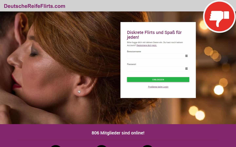 DeutscheReifeFlirts.com Erfahrungen Abzocke