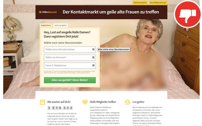 OldieDate.com Erfahrungen Abzocke
