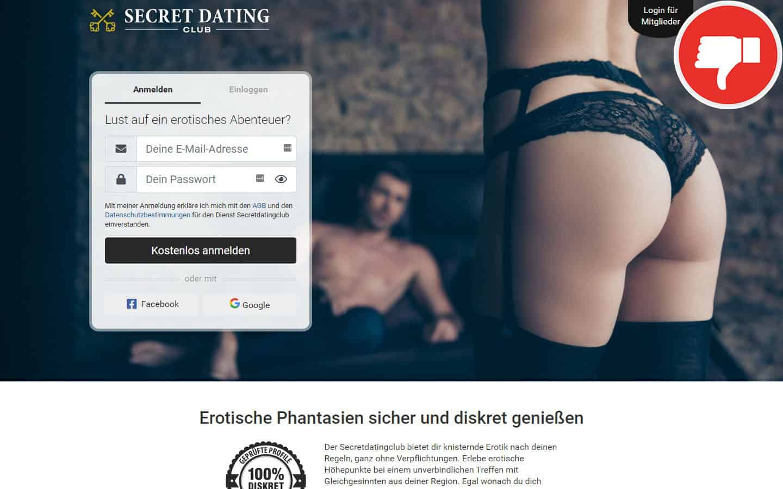SecretDatingClub.com Erfahrungen Abzocke
