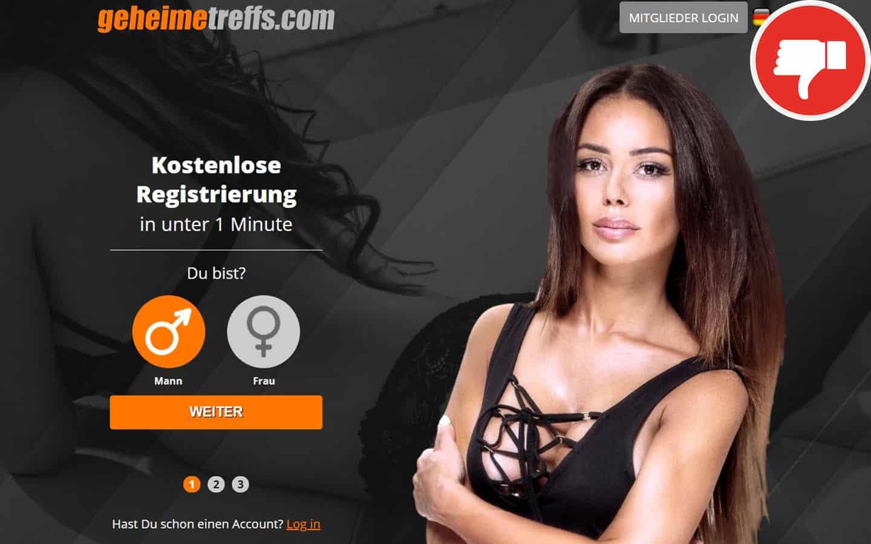 GeheimeTreffs.com Erfahrungen Abzocke