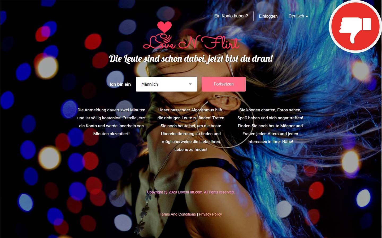 LoveNFlirt.com Erfahrungen Abzocke