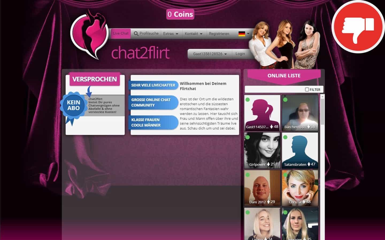 Chat2Flirt.org Erfahrungen Abzocke