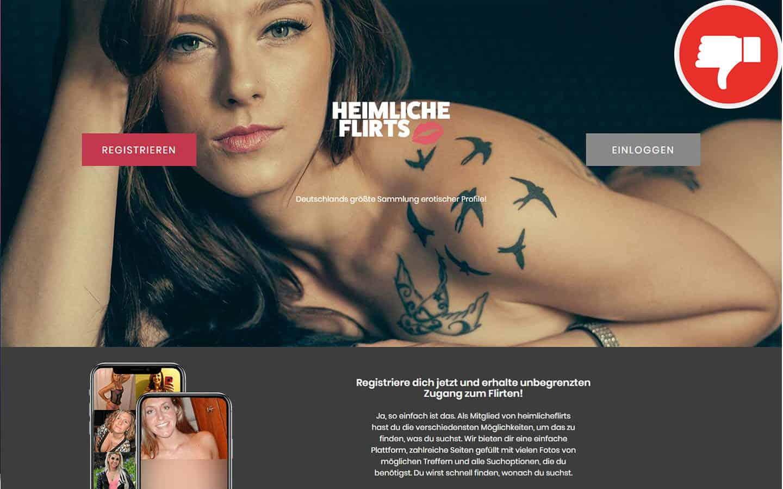 HeimlicheFlirts.com Erfahrungen Abzocke