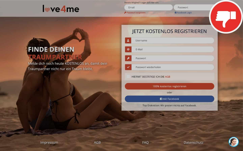 Love4Me.de Erfahrungen Abzocke