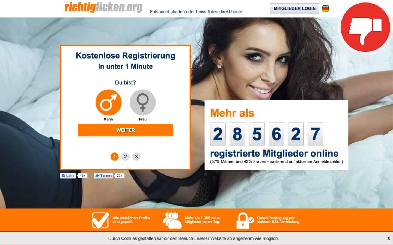 RichtigFicken.org Erfahrungen Abzocke