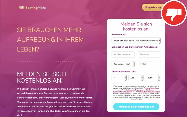SextingPlatz.com Erfahrungen Abzocke