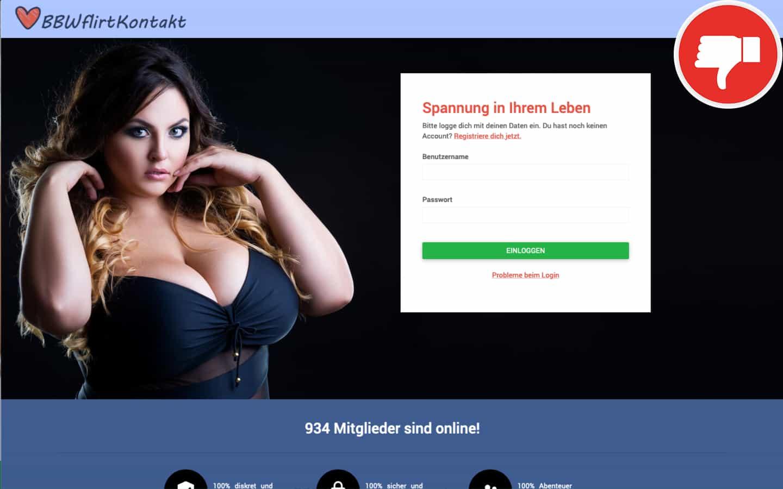 BBWFlirtKontakt.com Erfahrungen Abzocke