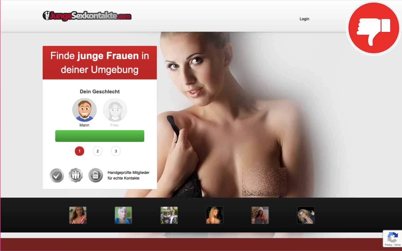 JungeSexkontakte.com Erfahrungen Abzocke
