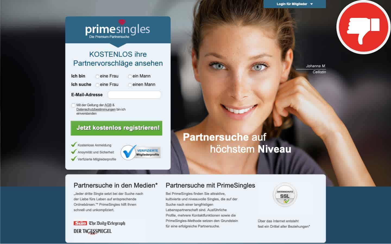 PrimeSingles.de Erfahrungen Abzocke