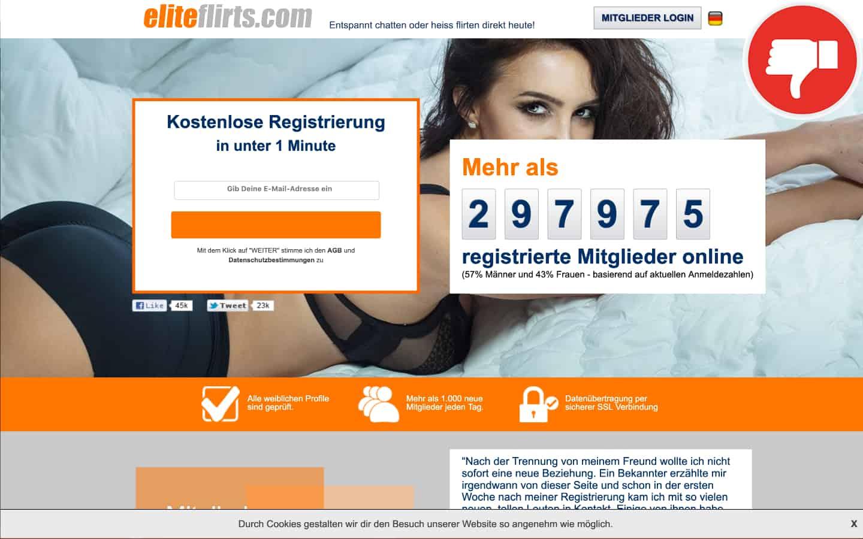 Eliteflirts.com Erfahrungen Abzocke