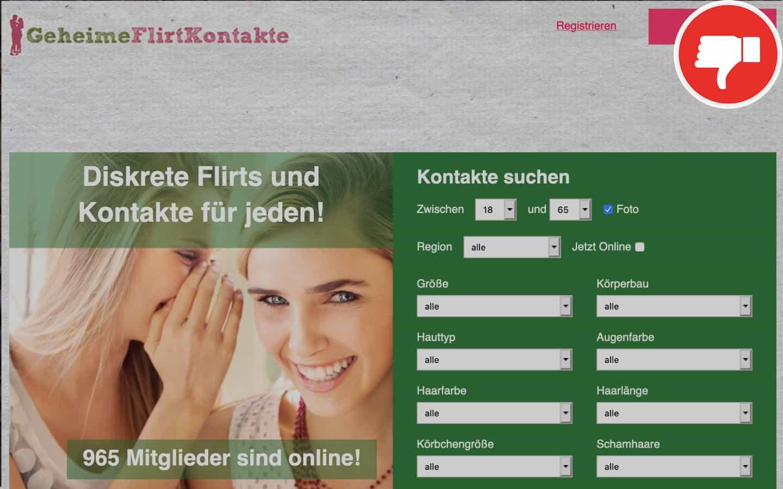 GeheimeFlirtKontakte.com Erfahrungen Abzocke
