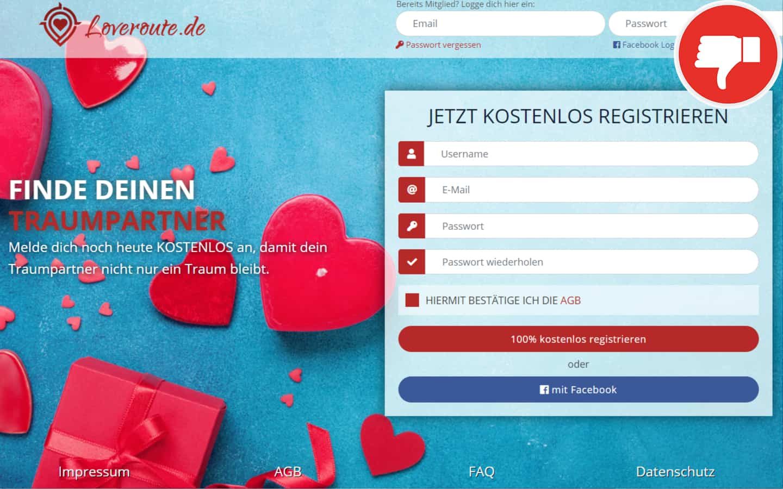 LoveRoute.de Erfahrungen Abzocke