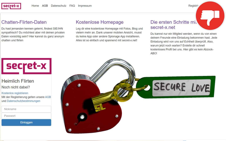 Secret-X.net Erfahrungen Abzocke