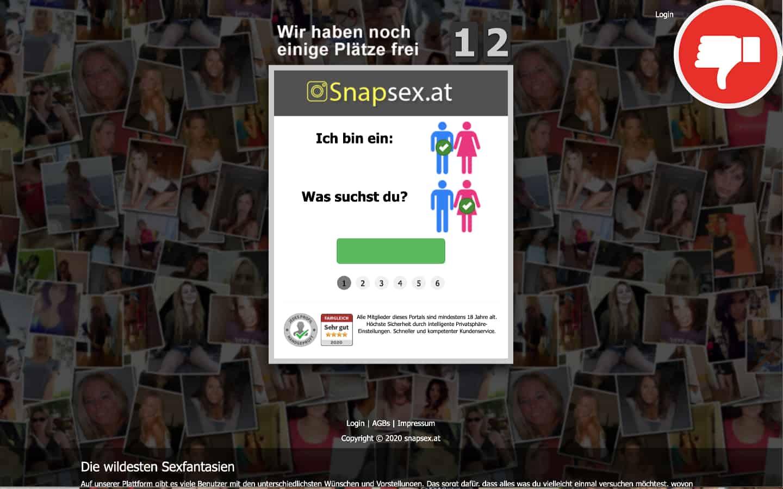SnapSex.at Erfahrungen Abzocke