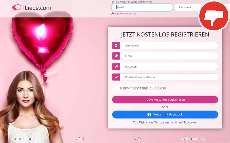 1Liebe.com Erfahrungen Abzocke
