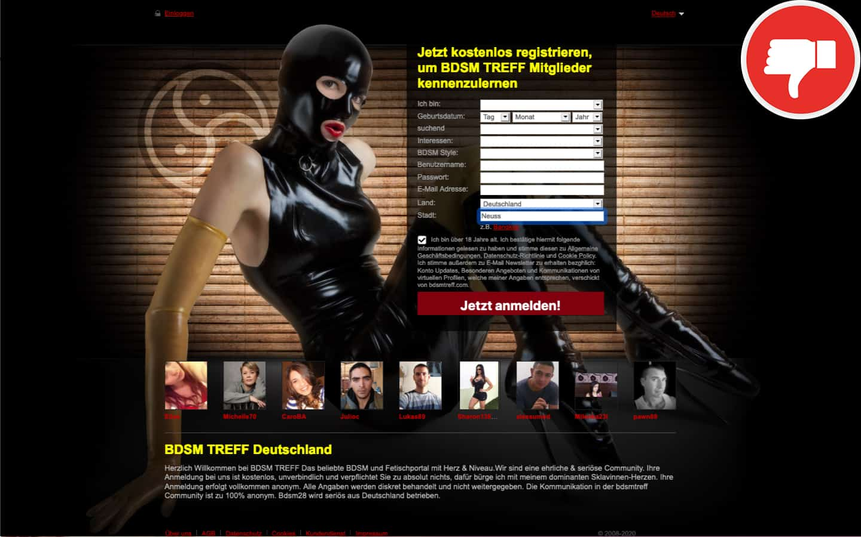BDSMTreff.com Erfahrungen Abzocke