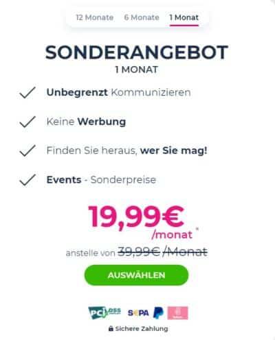 Lovescout24 - Kosten