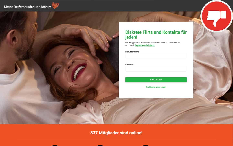 MeineReifeHausFrauenAffaire.com Erfahrungen Abzocke