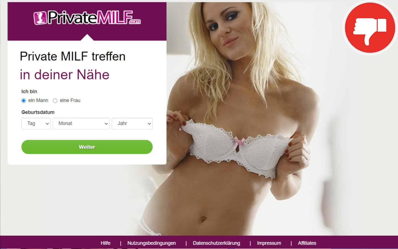 PrivateMilf.com Erfahrungen Abzocke