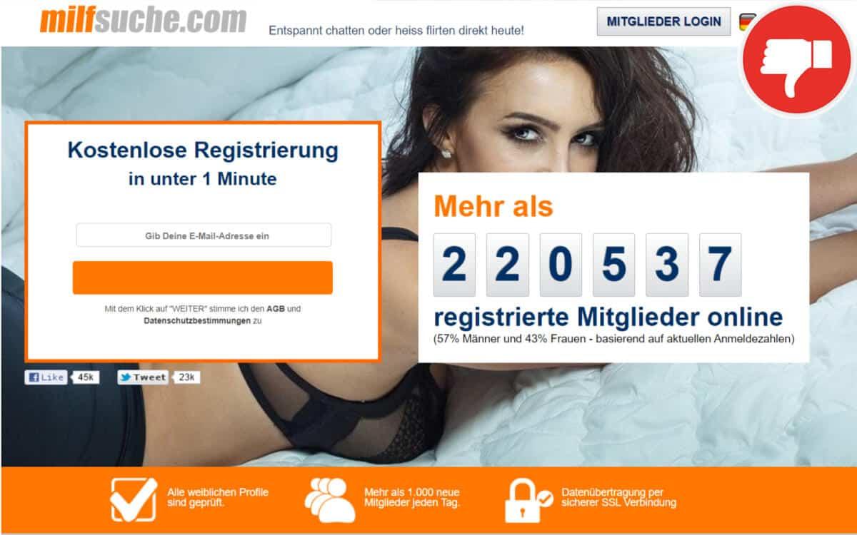 MilfSuche.com Erfahrungen Abzocke | März 2021