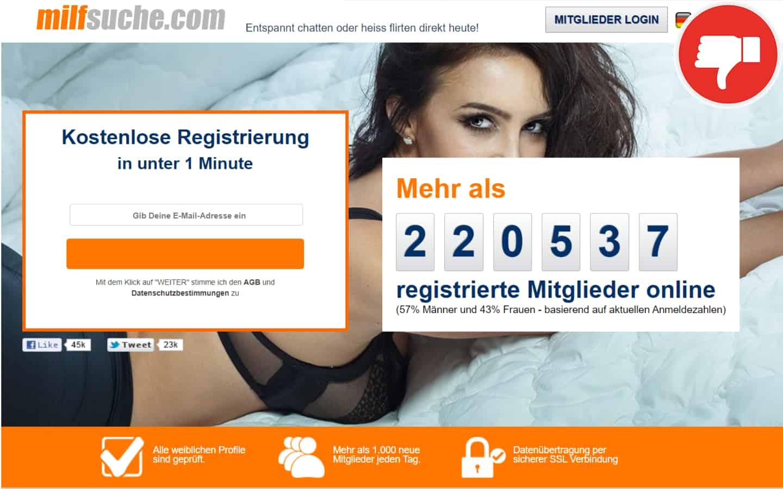 MilfSuche.com Erfahrungen Abzocke