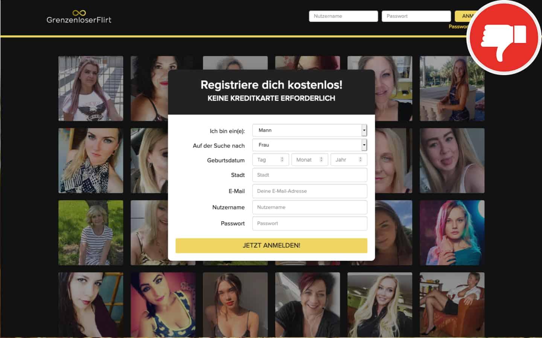 GrenzenloserFlirt.com Erfahrungen Abzocke