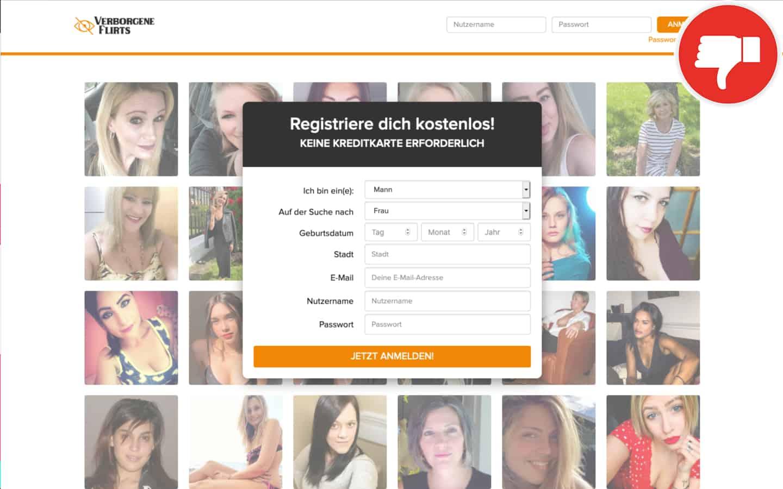 VerborgeneFlirts.com Erfahrungen Abzocke