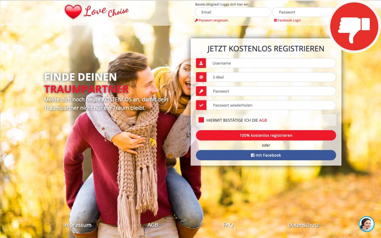 LoveChoise.de Erfahrungen Abzocke