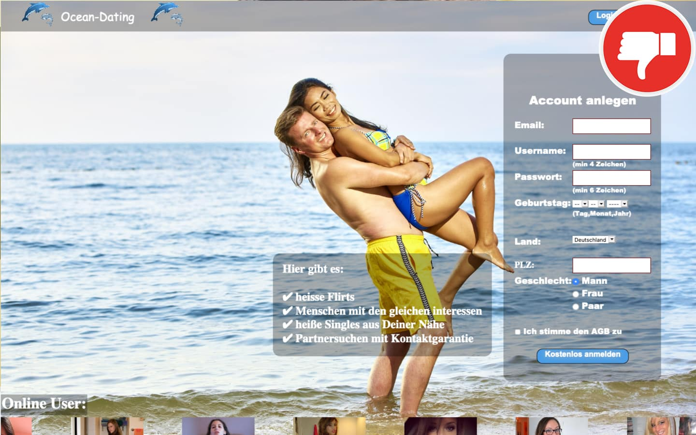 Ocean-Dating.club Erfahrungen Abzocke