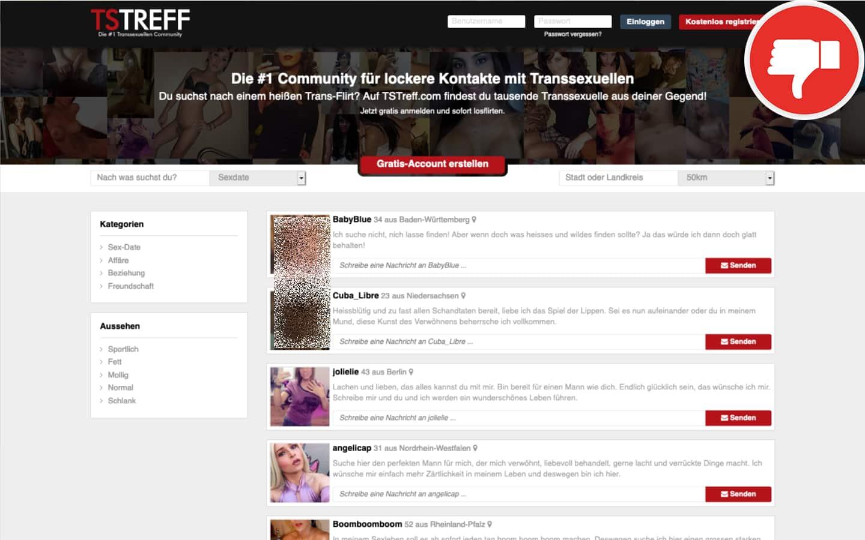 TSTreff.com Erfahrungen Abzocke
