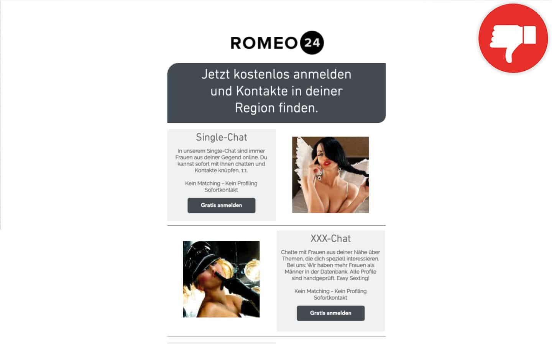 Romeo-24.net Erfahrungen Abzocke