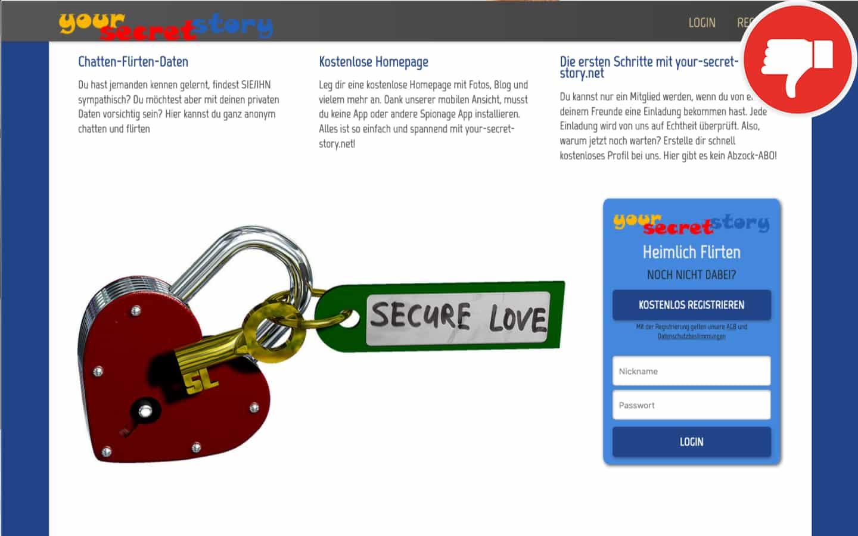 Your-Secret-Story.net Erfahrungen Abzocke