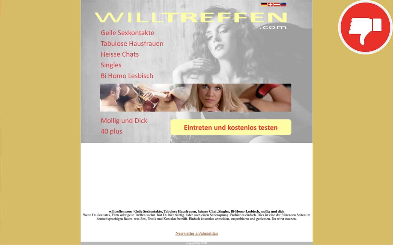 WillTreffen.com Erfahrungen Abzocke