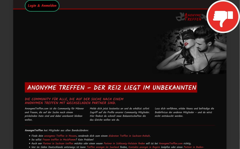 Testbericht AnonymeTreffen.com Abzocke
