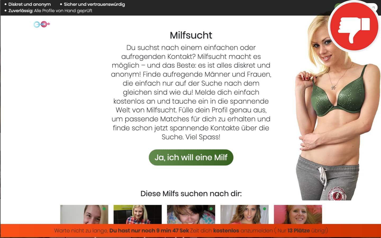Testbericht MilfSucht.com Abzocke