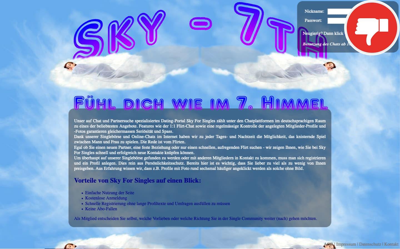 SkyForSingles.com Erfahrungen Abzocke