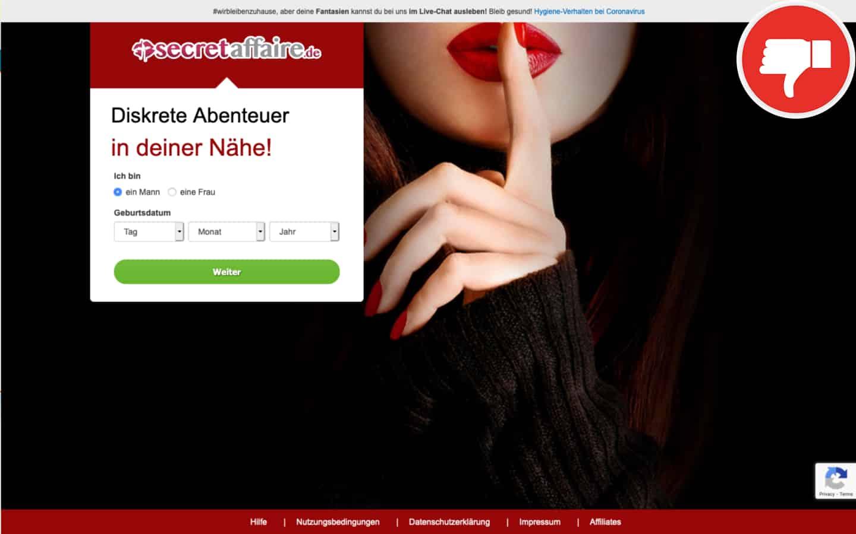 Testbericht SecretAffaire.de Abzocke