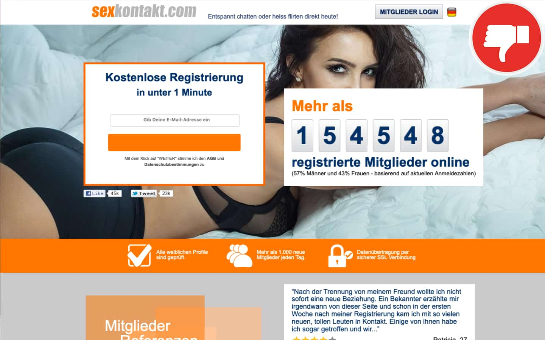 SexKontakt.com Erfahrungen Abzocke