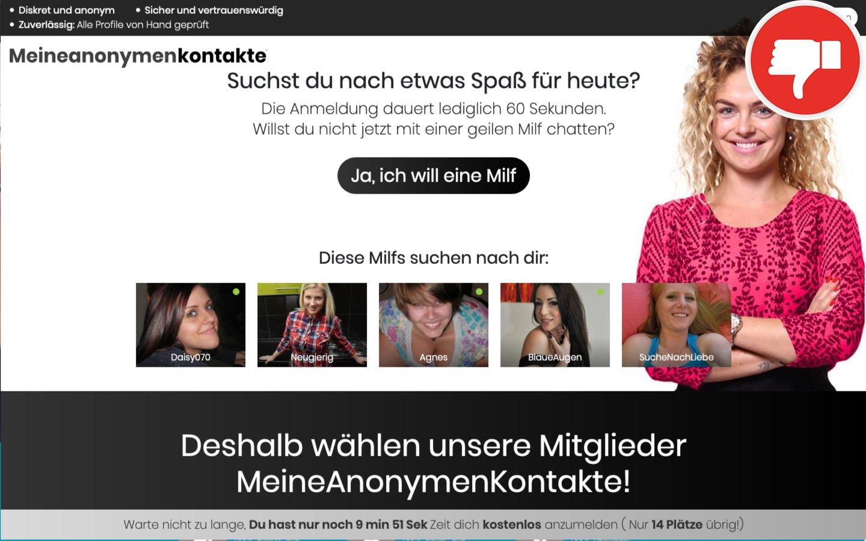 MeineAnonymenKontakte.com Erfahrungen Abzocke