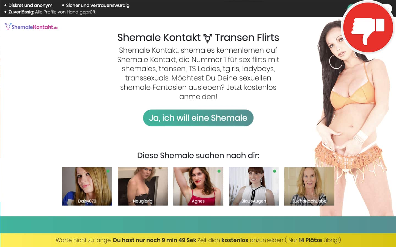 Testbericht ShemaleKontakt.de Abzocke