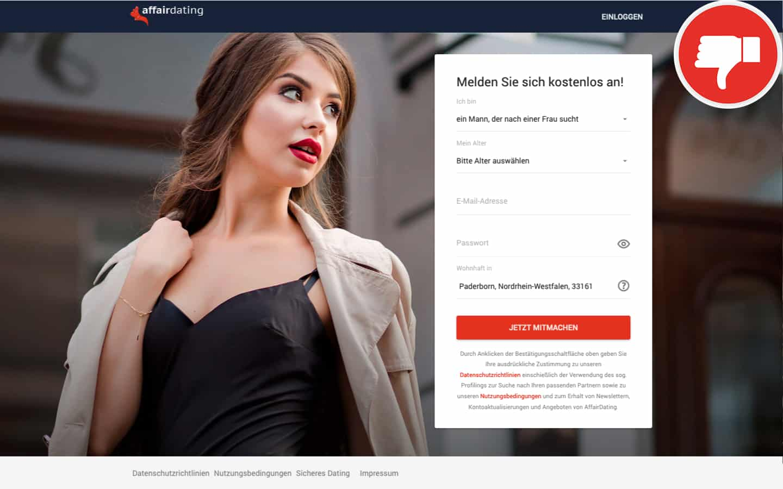 Testbericht AffairDating.com Abzocke